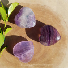 Load image into Gallery viewer, Rainbow Fluorite Hearts Small
