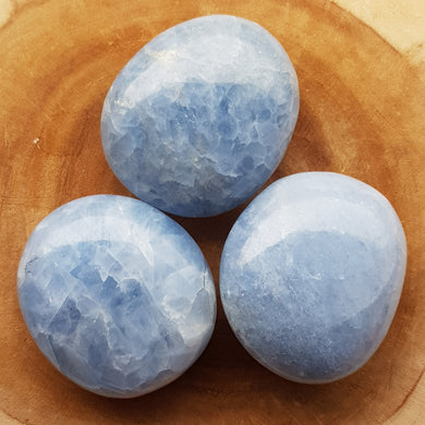 Blue Calcite Crystal Palm Stones