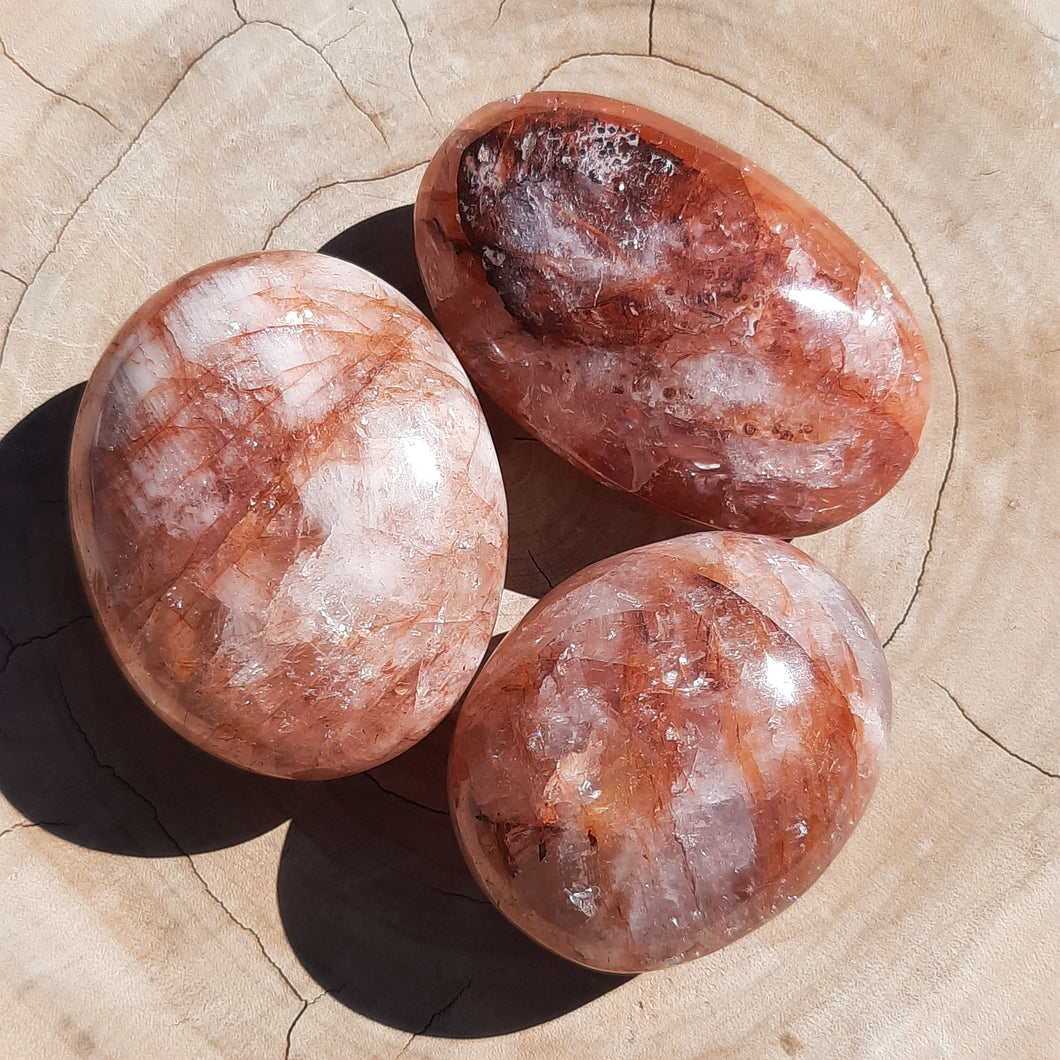 Fire Quartz Palm Stones