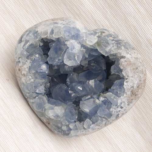Celestite Heart ~ Extra Large