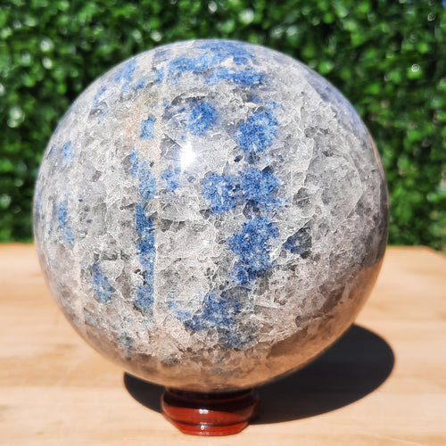 Apatite on Cleavelandite Sphere ~ Large