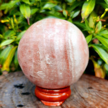 Load image into Gallery viewer, Strawberry Calcite Sphere ~ Medium