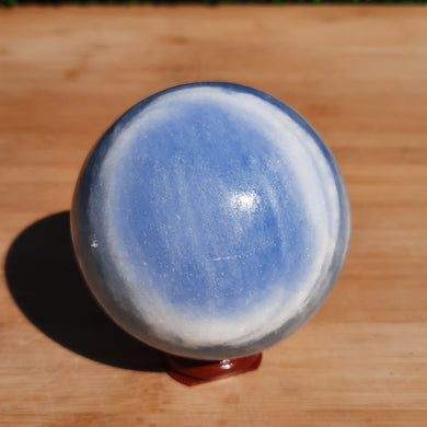 Blue Calcite Crystal Sphere ~ Medium