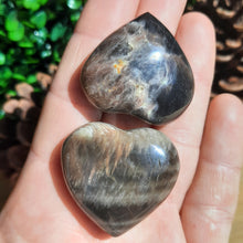 Load image into Gallery viewer, Black Moonstone Hearts ~ Small - The Crystal Society Pty Ltd