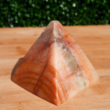Load image into Gallery viewer, Sunset Calcite Pyramid ~ Large