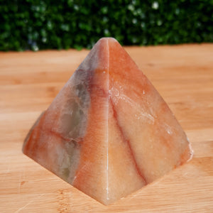 Sunset Calcite Pyramid ~ Large