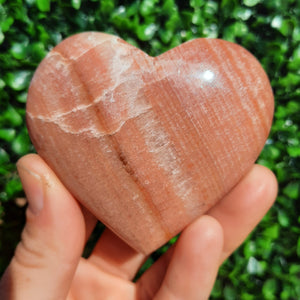 Sunset Calcite Heart ~ Medium