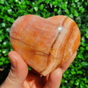 Sunset Calcite Heart ~ Small