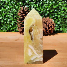 Load image into Gallery viewer, Golden Calcite Crystal Obelisk ~ Large With Cavern