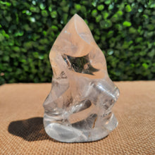 Load image into Gallery viewer, Clear Quartz Flame ~ Small With Rainbows