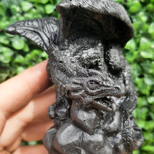 Load image into Gallery viewer, Shungite Dragon On Stone