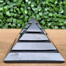 Load image into Gallery viewer, Shungite Sakkara Pyramid - 70mm
