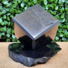 Load image into Gallery viewer, Shungite Cube On Stand - 50mm