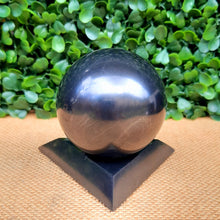 Load image into Gallery viewer, Shungite Sphere Stand - 90mm