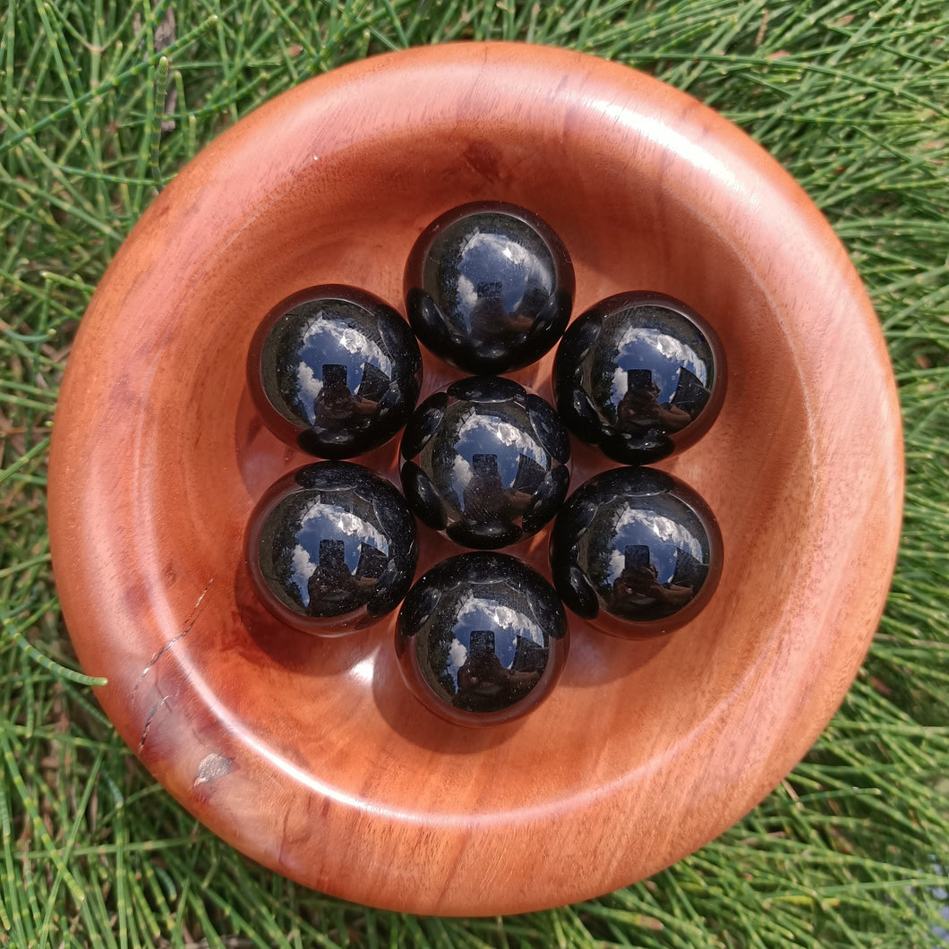 Black Obsidian Orbs - The Crystal Society Pty Ltd