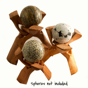 Wooden Sphere or Egg Stand