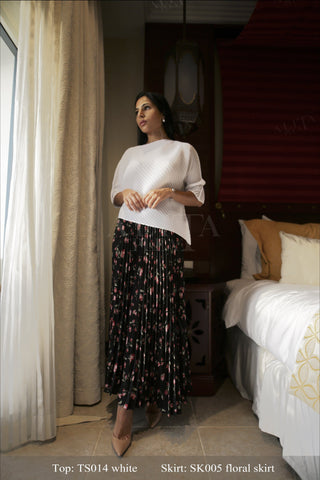 Senalda Floral Skirt - Alita Pleat