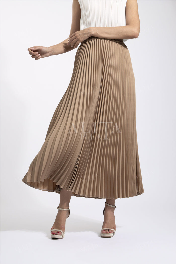 SK003 A-line big pleat skirt - Alita Pleat