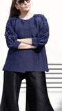 Shelly Jacket With Petaled Sleeves - Alita Pleat
