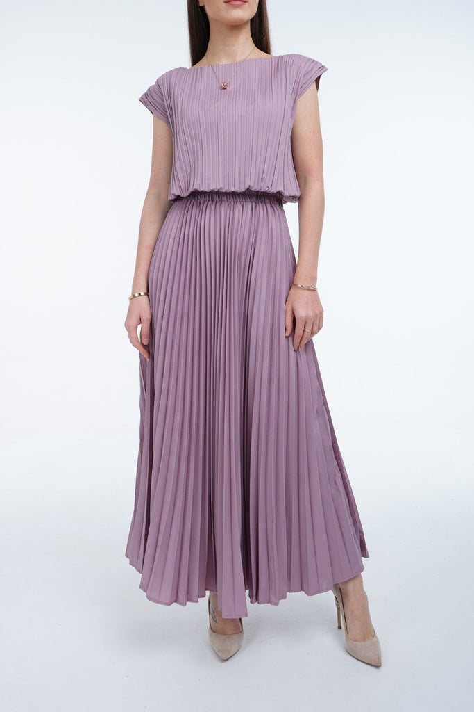 Lavender (03) | Pleated Dress