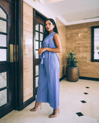 JS003 sleeveless jumpsuit with belt - Alita Pleat