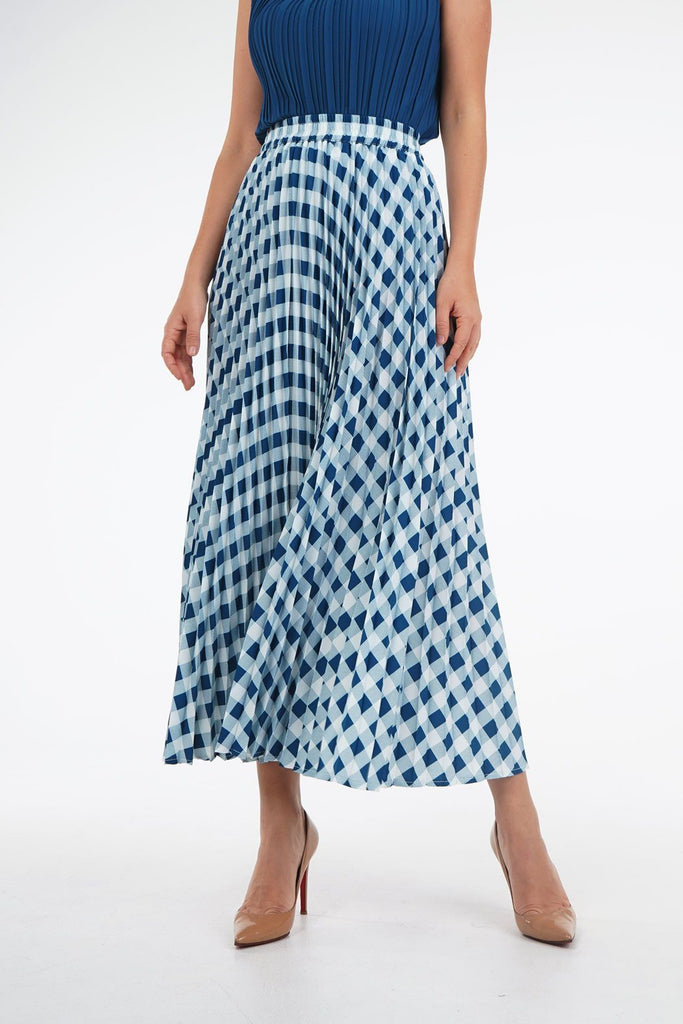 Blue with White Checkered