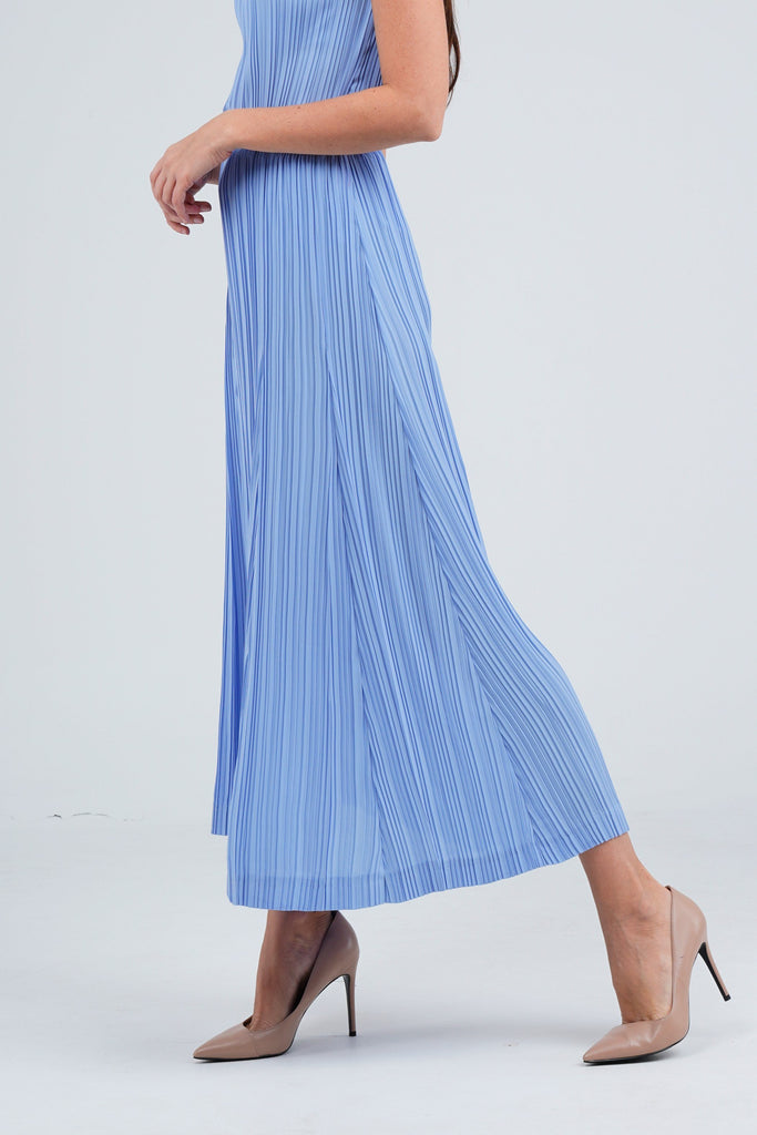 Baby Blue (04) | Pleated Dress