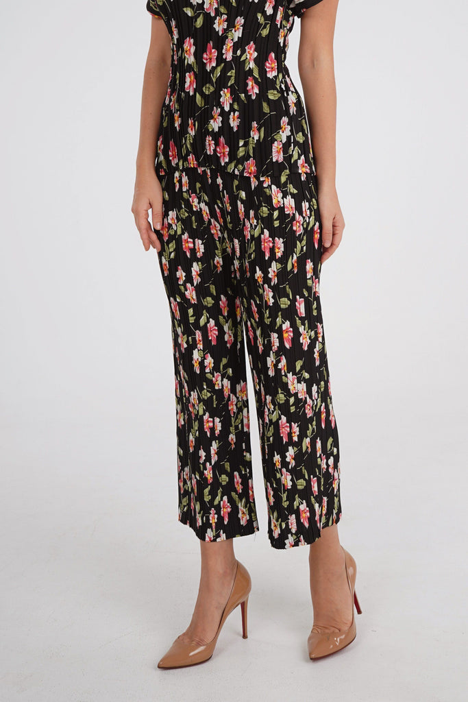 Black with Flowers/Pants