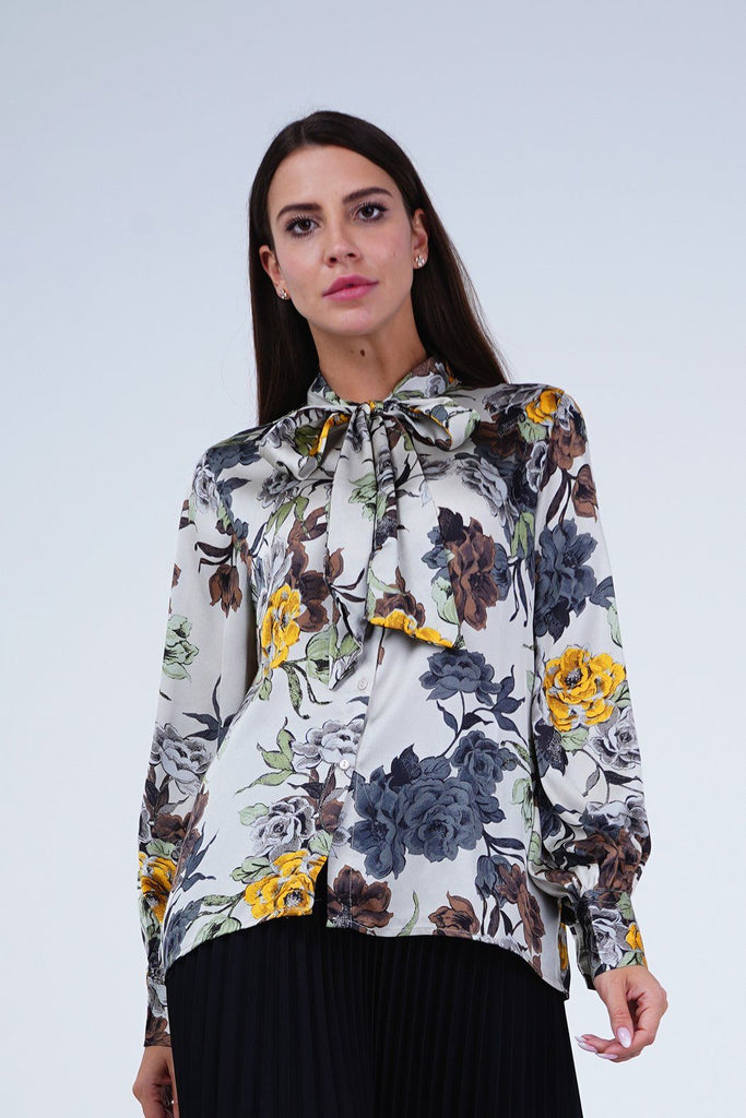 Off White with Flower Patterns | uae online shopping clothes