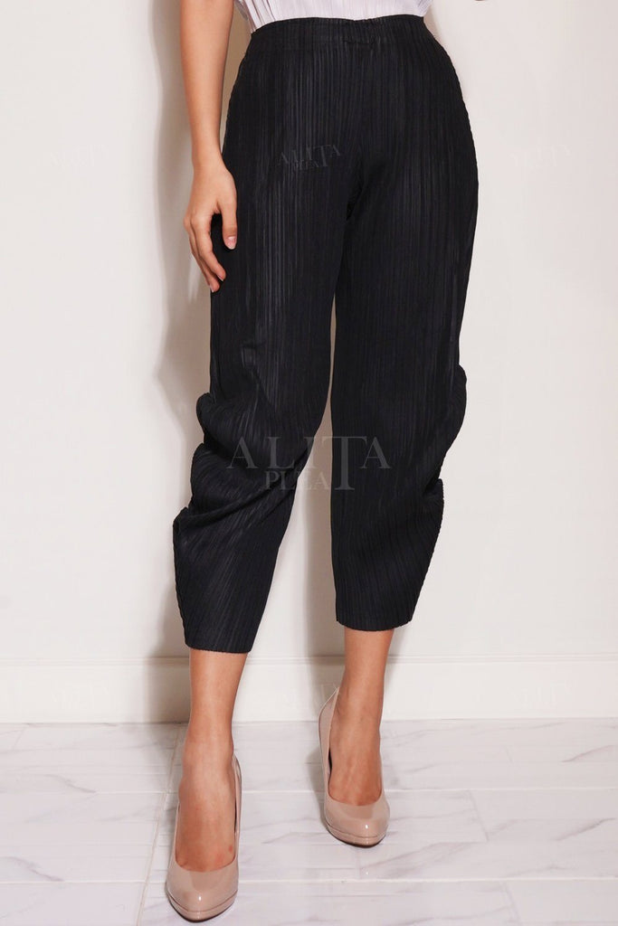 Pamela Tapered Pleated Pants - Alita Pleat