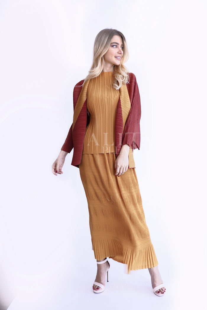 Clara Two Tone Jacket - Alita Pleat