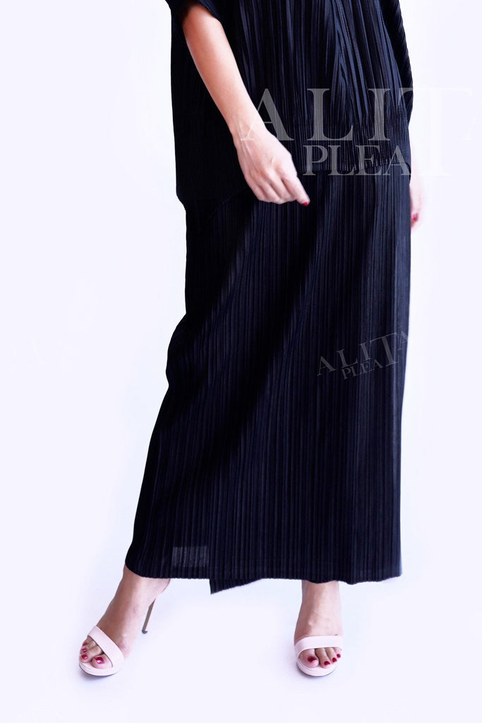 SK008 straight cut classic pleat skirt - Alita Pleat
