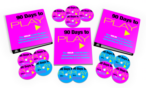 90 Days to Play Violin Training System: The Go-Anywhere Edition (USB Thumb Drive + Printables)