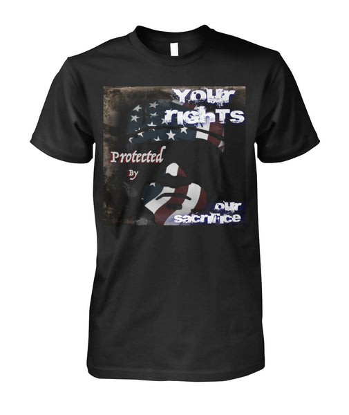 Your Rights - Our Sacrifice Unisex Cotton Tee