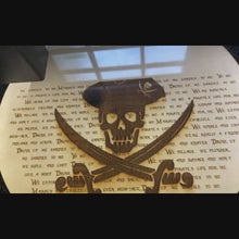 "Load and play video in Gallery viewer, Pirates of the Caribbean Inspired - Yo Ho A Pirate Life For Me Lyrics - 10"" Plaque"