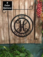 "Load image into Gallery viewer, Monogram, Name & Established Date/Address Decor - Personalized 12"" & 14"" Circle - Yard/Garden Decor"