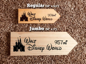 Your Miles to The Magic - Four Personalized Park Signs - SPECIAL EDITION
