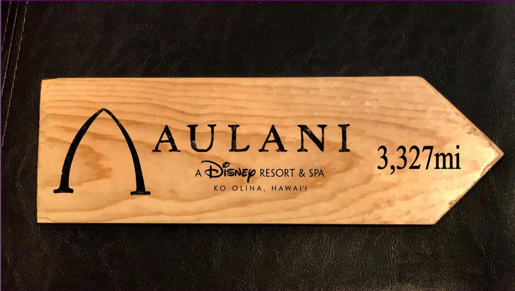Your Miles to Aulani Personalized Sign