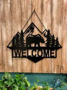 "Bear Mountain Personalized Decor - 24"" Wall or Door Decor - Free Shipping"
