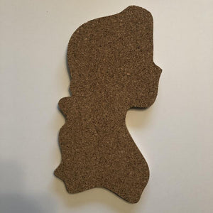 Beauty and The Beast-Inspired Silhouette Profile Cork Pin Boards