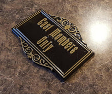 Load image into Gallery viewer, Haunted Mansion Cast Member Prop Sign/Plaque Replica