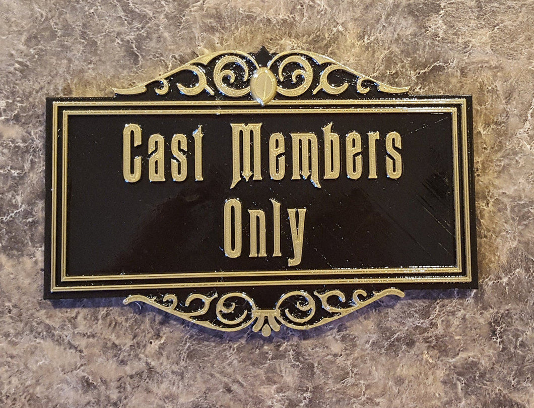 Haunted Mansion Cast Member Prop Sign/Plaque Replica