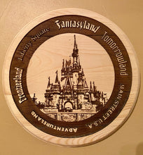 Load image into Gallery viewer, WDW Castle Celebration Sign with Lands around the Kingdom