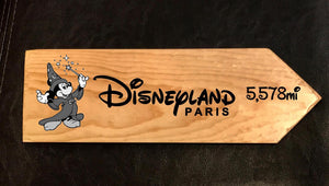 Your Miles to Disneyland Paris Personalized Sign