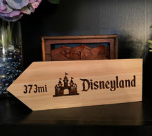 Load image into Gallery viewer, Your Miles To Disneyland - The Happiest Place On Earth Personalized Sign