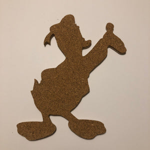 Donald Duck-Inspired Cork Pin Board