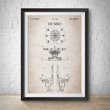 Load image into Gallery viewer, Dumbo Patent Vintage Wall Print Art