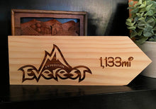 Load image into Gallery viewer, Your Miles to Everest Personalized Sign