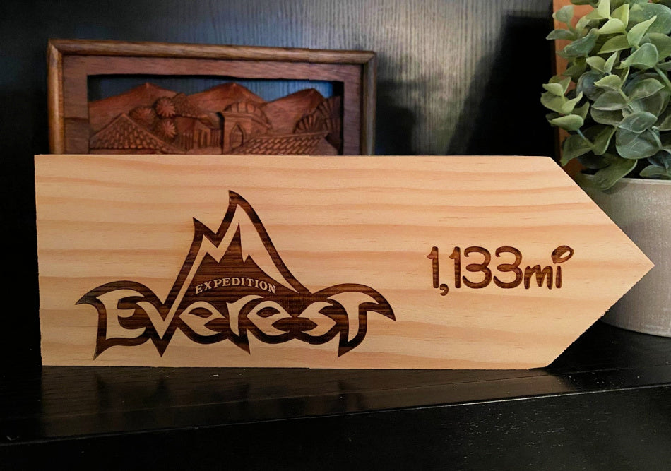 Your Miles to Everest Personalized Sign