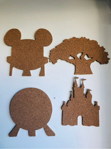 Four Parks, Walt Disney World-Inspired Cork Pin Boards